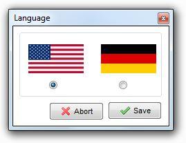 XAMPP - language selection