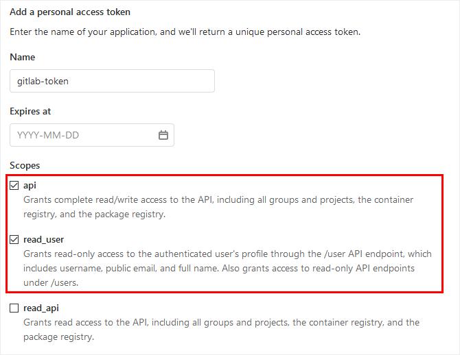 Create Personal Access Token