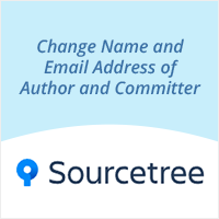 How to change name and email address of author and committer with SourceTree