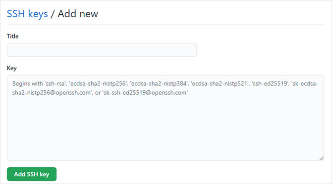 Add SSH key to your GitHub account