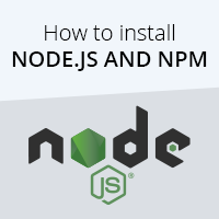 How to install Node.js and NPM